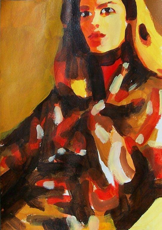 Untitled Jil Sander orange sequins